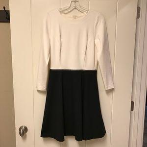 Banana Republic Color Block Zipper Dress Black 8